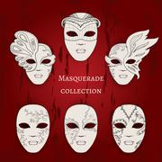 Masquerade. - stock illustration