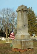 Gravestone of a Civil War Soldier - stock photo