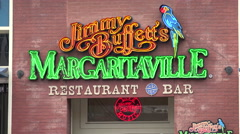 Margaritaville bar, neon signs broadway, nashville bars, tn, usa Stock Footage