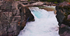 Gushing White Water River Flow Stock Footage
