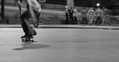 Flatland Heel Flip Stock Footage