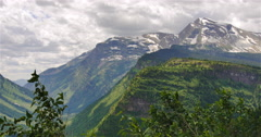 Cloudy Mountain Scenery Stock Footage