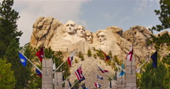 Mt. Rushmore and the Grand Terrace Entrance Stock Footage