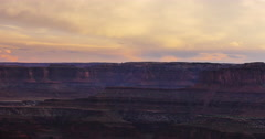 Dead Horse Point Muddy River Sunset Stock Footage