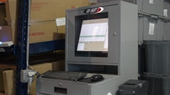 Computer Terminal - stock footage