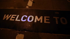 Welcome to Brooklyn Sign - stock footage