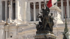 Monument to Vittorio Emanuele Stock Footage