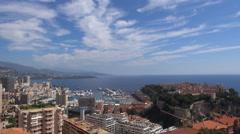 Timelapse Monaco downtown Monte Carlo aerial view La Condamine cityscape town  Stock Footage