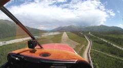 Cessna 180 POV Landing in Alaska's Brooks Range Stock Footage