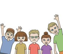 Group of children Stock Illustration