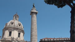 Stock Video Footage of Trajan's Column