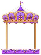A merry-go round - stock illustration