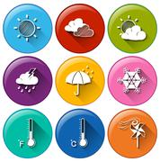 Stock Illustration of Weather forecast buttons