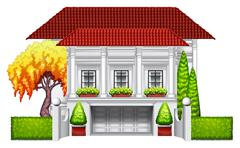 A big mansion Stock Illustration