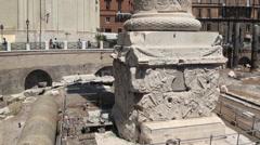 Trajan's Column - stock footage