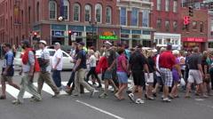People cross the road, broadway, nashville, tn, usa Stock Footage
