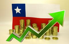 Currency appreciation - Chilean peso Stock Illustration
