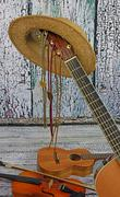 Country music instruments Stock Photos