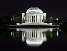 Jefferson Memorial at night - stock photo