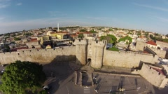 Knights Grand Master Palace in Rhodes Island, Greece.  Stock Footage