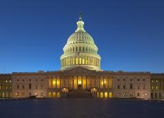 US Capitol building at twilight - stock photo