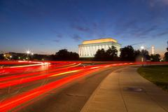 Lincoln Memorial and traffic - stock photo