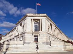Russell Senate Office Building main entrance - stock photo