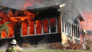 Stock Video Footage of House on Fire