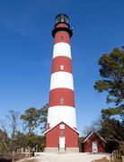 Attateague Lighthouse tall view Stock Photos