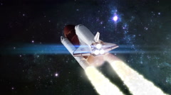 Space shuttle launch Stock Footage