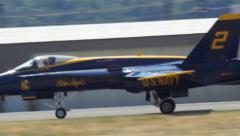Blue Angel Landing Stock Footage