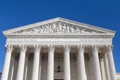 Stock Photo of US Supreme Court closeup