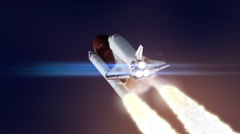 Space shuttle launch loop Stock Footage