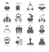 Executive icons black - stock illustration