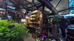 Market Halls in Copenhagen - shopping deli of all kinds - stock footage