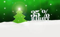Christmas tree 35 percent rabatt discount Stock Illustration