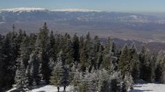Panorama Pan Right Ski Resort People Enjoy Skiing Skiers Free Ride Mountain Snow - stock footage