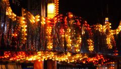 Lights in an amusement park. Sequence Stock Footage