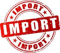Import stamp Stock Illustration