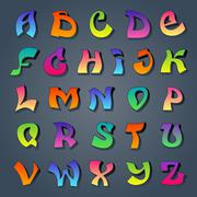 Stock Illustration of Graffiti alphabet colored