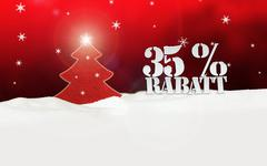 christmas tree 35 percent rabatt discount - stock illustration