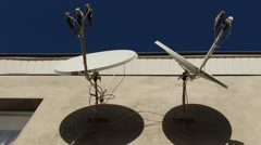TV satellite dishes Stock Footage