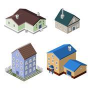 Residential house buildings Piirros