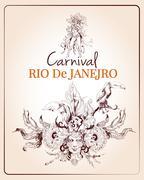 Rio carnival poster Stock Illustration