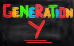 Generation y concept Stock Illustration