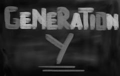 generation y concept - stock illustration