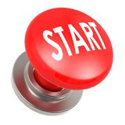 Stock Illustration of red start button