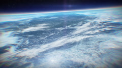 Atmosphere view from space - stock footage