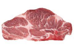 Raw pork chop cutlet isolated Stock Photos