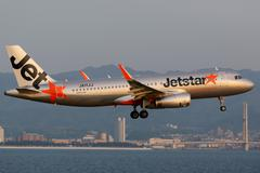 Jetstar airbus a320 osaka kansai airport Stock Photos